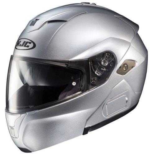 HJC SY-MAXBT III Bluetooth Modular Motorcycle Helmet (Silver, X-Small)