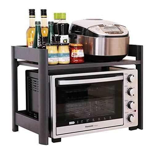 HJSCD Küchenregale, mikrowelle Racks, Edelstahl Regale, doppelofen Schrank Racks, geeignet für Hotels, schlafsäle, Restaurants