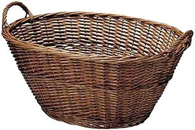 スモーク煮柳バスケット 両ハンドル61cm 41-02BR