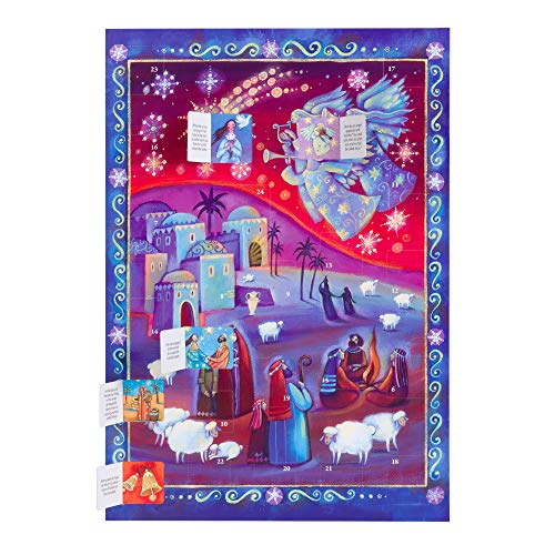 Coppenrath Unique Traditional Paper Advent Christmas Calendar with Nativity Story - Premium Made in Germany - Modern Nativity Scene - The Shepherds Watch