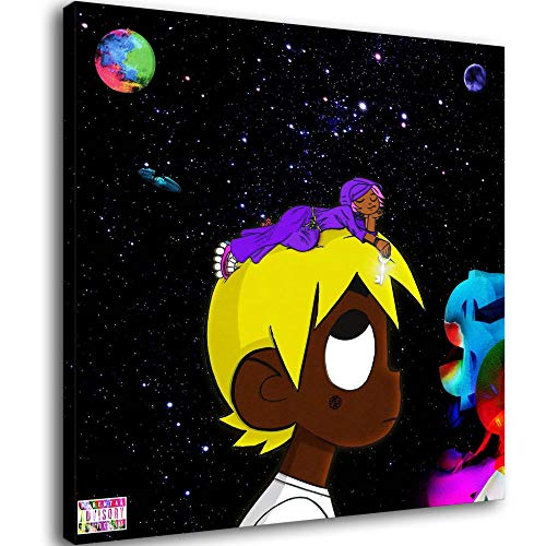 Póster de Lil Uzi vert vs. The World Album Cover Póster de Lil Uzi Vert y arte de pared, diseño moderno para dormitorio familiar, Enmarcado, 24x24inch