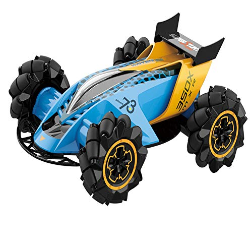 Metermall Games For 1:14 Z109 RC Car Cool Stunt Drift Car 360° Universal Wheels 2.4GHz Remote Control Toy Blue 1:14