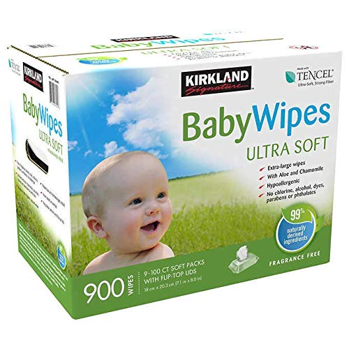 900 Count Unscented Ultra Soft Baby with Vitamin E Wipes with Flip top Lid - iIiiEe