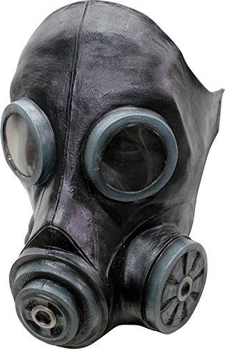 Máscara de cabeza de humo, máscara de gas, color negro, disfraz de Halloween