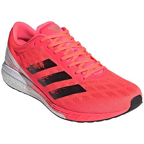 adidas Herren Adizero Boston 9 m Laufschuh, Signal Pink Core Black Copper Met, 45 1/3 EU