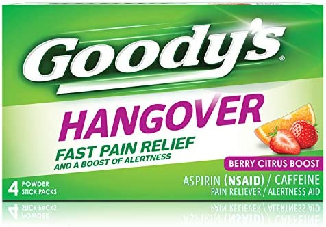 Goody s Hangover Powders Fast Pain Relief Powders Berry 4 Count product image
