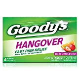 Goody's Hangover Powders Fast Pain Relief, Powders, Berry, 4 Count