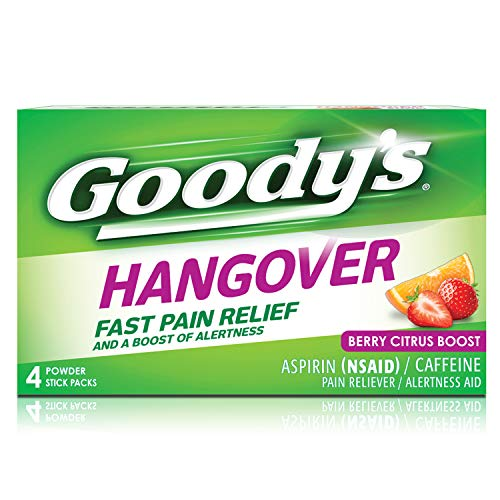 Goody's Hangover Powders, Fast Pain Relief, 4 Powders, Pack of 1
