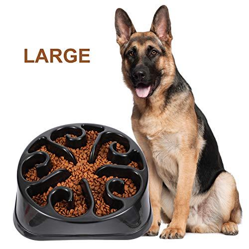 JasGood Große Hundenapf für langsames Essen, Slow Feeder Fressnapf und Trinken Wasser Gesunde Ernährung Diät Aufblasen Umweltfreundlich, Ungiftig, Verhindert Verschlucken, für Haustier, Hund, Spaß