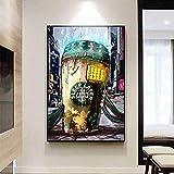 Straße Graffiti Kunst Starbucks Kaffee Malerei Ölgemälde