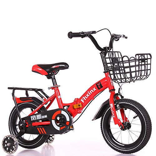 ZHIPENG Kids Bike, 2-8 Year Old Baby Carriage, Baby Girl Toy Car, Child Bike, Bike in Many Size Optional,Red,16 inches