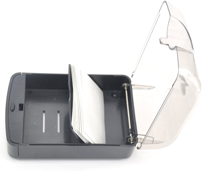 Looyuan 1 x Kunststoff Schwarz Smoke Farbe Taster Business Card Case Halter, 5 3 4 x 3 3 4 x 2 3 4 B017NGT158 | Verrückte Preis