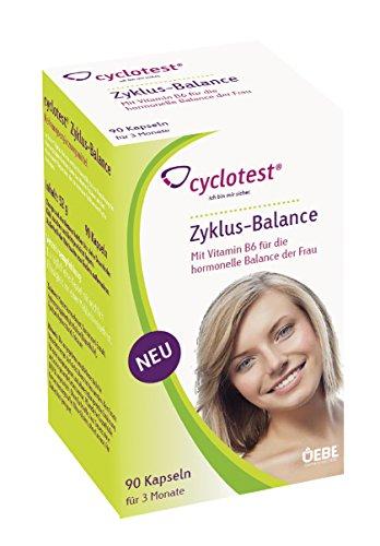 Zyklus-Balance Kapseln 90 Stück Nahrungsergänzungsmittel für Frauen mit PMS Regelschmerzen oder Menstruationsbeschwerden zum Zyklus regulieren