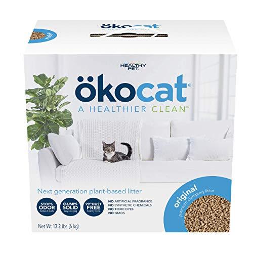 ökocat Original Low-Dust Natural Wood Clumping Cat Litter with Odor Control, 13.2 lbs.
