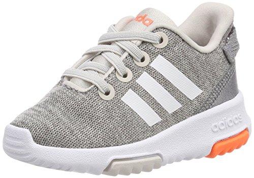 adidas Unisex Baby Racer TR Sneaker, Beige (Chalk Pearl/Footwear White/Hi-Res Orange), 23 EU