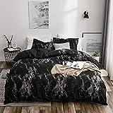 YIUA Parure de lit avec housse de couette et taie d'oreiller - Motif...