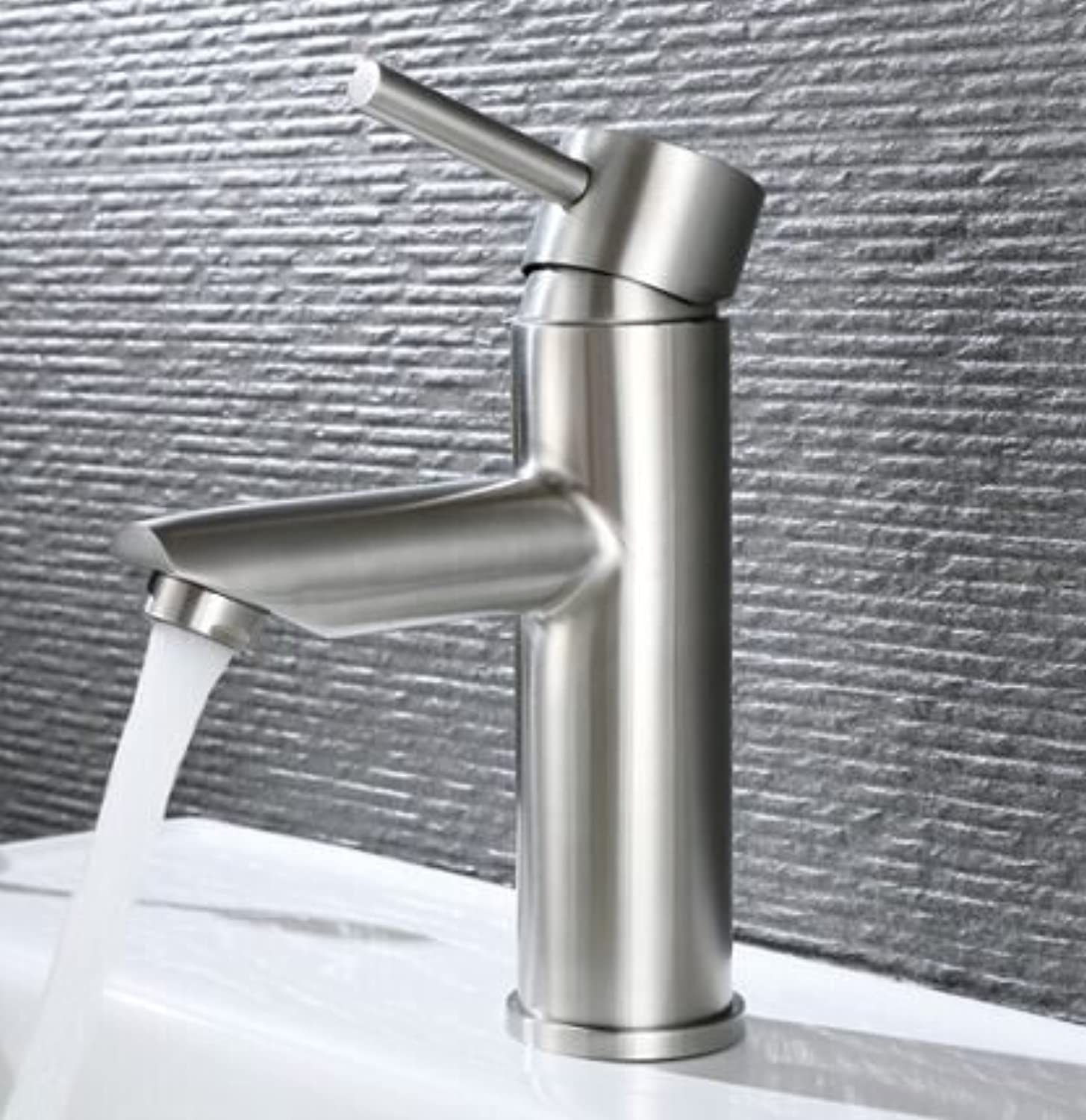 LHbox Basin Mixer Tap Bathroom Sink Faucet Stainless steel single basin, basin basin sinks, faucets, lead-free single handle single hole faucet, hot & cold water