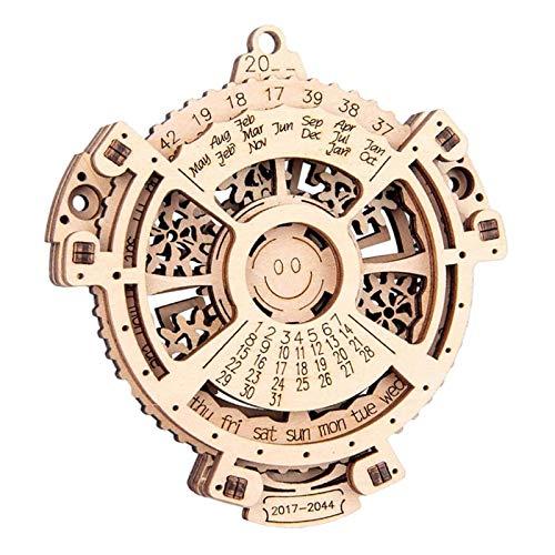 ASY Calendario Perpetuo Rompecabezas De Madera En 3D Equipo Mecánico Calendario Perpetuo Kit De Modelo De Artesanía En Madera Modelo Mecánico Kit De Construcción De Construcción