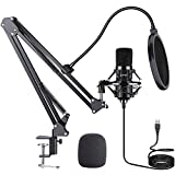 USB Microphone Kit: ZAFFIRO Plug & Play USB Computer Mic Cardioid Podcast Condenser Microphone Kit, PC Streaming Mic are Suitable for YouTube, Streaming, Recording Music, Live Streaming and Gaming
