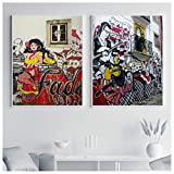 Vscdye Leinwanddruck Mädchen Bild Wandkunst