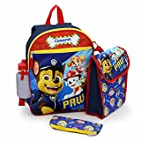 Personalized 16' Paw Patrol Backpack with Bonus Lunch Bag, Water Bottle, Pencil Case, and Carabiner Clip