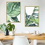 Póster moderno de planta verde nórdico minimalista impresión lienzo cuadro arte pared dormitorio salón decoración