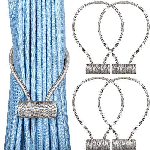 Unictop Vorhang Raffhalter, 4 Stück magnetische Vorhang Clips, 16 Zoll Gardinenhalter Raffhalter, Halter für Küche, Haus und Büro