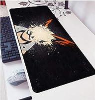 マウスパッドアニメマイヒーローアカデミアマウスパッドゲーミングマウスパッド特大ゲームパッド滑り止めゲームコンピューターデスクマットマウスキーボードパッド-90cmx40cm_(B)