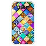 Hapdey Funda Transparente para [ Samsung Galaxy Grand Lite - Grand Neo - Neo Plus ] diseño [ Mosaico gráfico, decoración Cuadrada con Textura ] Carcasa Silicona Flexible TPU