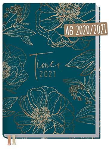 Chäff-Timer Mini A6 Kalender 2020/2021 [Goldblüte] Terminplaner 18 Monate: Juli 2020 bis Dez. 2021 | Wochenkalender, Organizer, Terminkalender mit Wochenplaner - nachhaltig & klimaneutral