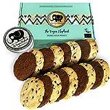 Vegan Cookies Bio Keske: 17 Vanille-Schokoladen und Doppelte-Schokoladen Keske, 100% Biologisch, Palmöl-Frei & GVO-Frei, Handgefertigt aus Hochwertigen Zutaten. 595g