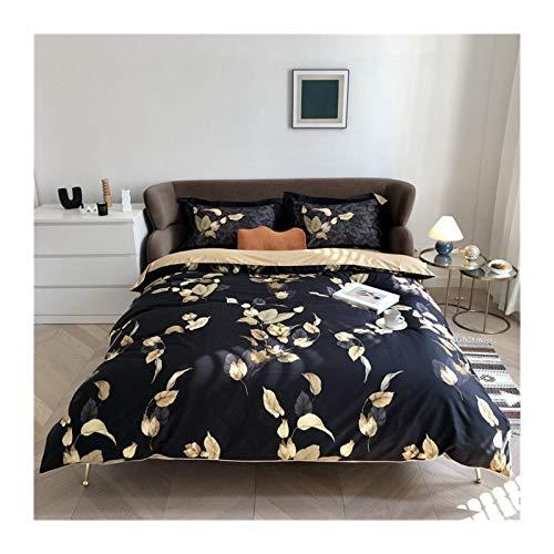 Huiyue Hoja Yellow Bird Sedosa Flor Funda Nórdica Funda Nórdica Hoja Extragrande Funda nórdica Hojas de algodón (Color : 8, Size : Fitted Sheet Style)