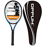 oppum New Graphene Ultra Carbon Pro Tennis Racket, 360 Super Light Speed Team Tennis Raccquet (Graphene Racket PRO-2000 (Black Blue), 4 3/8)
