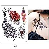 yyyDL Flor pájaro calcomaníamujeres hombres DIYBody arte del tatuaje del diseño delárbol de mariposa ramavivo vivoetiqueta engomada del tatuaje 14.8 * 21cm 4 unids