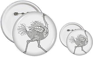 Kit de création de boutons et badges à motif d'oiseau