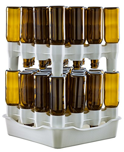 Set scolabottiglie Scola Bottiglie modulare 2 piani con bacinella Easy Drainer