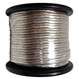 AudioPipe Cable 10-100CLR 100 Foot 10 Gauge AWG Car Audio Speaker Installation Wire, Cable Wiring Kit Spool for Vehicle Electronics, Clear