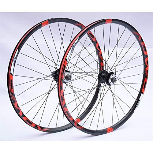 TYXTYX Assi a sgancio rapido Accessori per Biciclette Ruote MTB 26 27,5 Set di Ruote per Mountain Bike da 29 Pollici Cerchi a Doppia Parete Freno a Disco Mozzo a Cassetta 8-10s 32H QR Bicicletta da