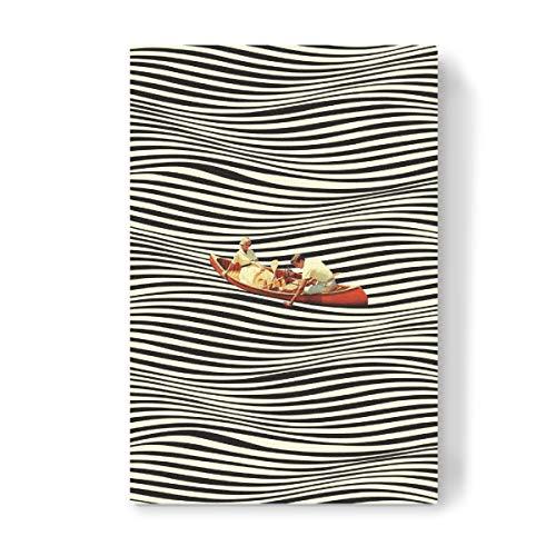 artboxONE Leinwand 120x80 cm Reise Illusionary Boat Ride von Taudalpoi