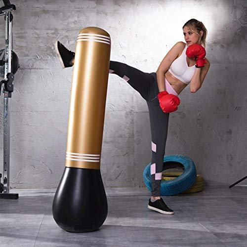 Aufblasbarer Boxsack, Boxen, Freistehend Boxsack Aufblasbar Target Ständer Kick Training Tumbler Bop Tasche, Heavy Duty Target Stand Boxsäcke/ausgezeichnete Dummy Für Boxen/Kick Boxen, 150cm