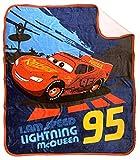 Disney Pixar Cars Lightning McQueen Sherpa Throw Blanket - Measures 50 x 60 inches, Kids Bedding - Fade Resistant Super Soft - (Official Disney Pixar Product)
