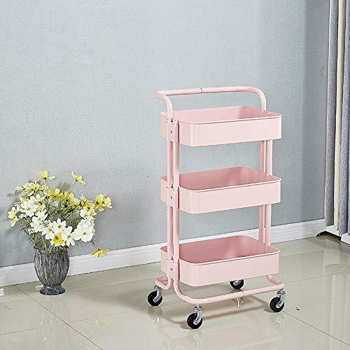 Regal Rollregal Küche Lagerregal Wohnzimmer Lagerregal Küche Speisewagen-Pink