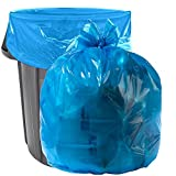Aluf Plastics 40-45 Gallon Blue Trash Bags - Pack of 100 - Garbage or Recycling Bags 33