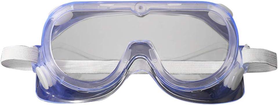 Garneck Gafas Protectoras de Seguridad Gafas de Protección Cristalina Transparente Antivaho Gafas Quirúrgicas Médicas para El Lugar de Trabajo de Laboratorio (Blanco)