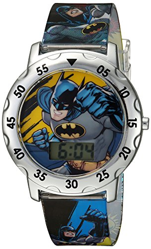 DC Comics Boys' Analog-Quartz Watch with Plastic Strap, Multi, 0.7 (Model: BAT4100)