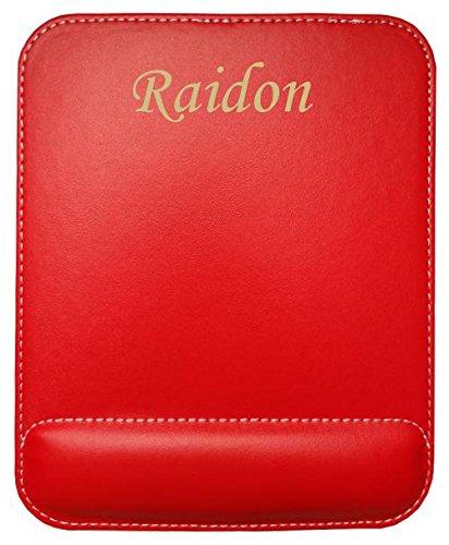 Kundenspezifischer gravierter Mauspad aus Kunstleder mit Namen Raidon (Vorname/Zuname/Spitzname)