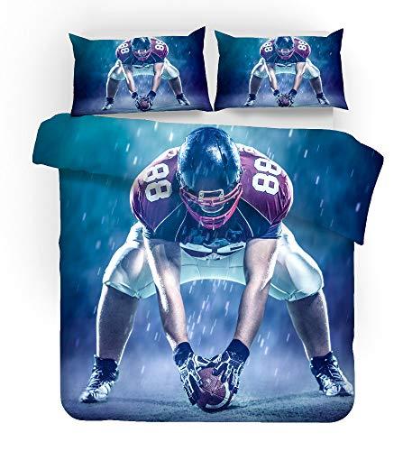 REALIN Bettbezug American Football Set...