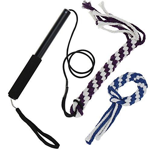 ANG, Reizangel / Tauspielzeug für Hunde, geflochtenes Seil aus Baumwoll-Mischgewebe, interaktives Outdoor-Spielzeug zum Ziehen / Jagen / Kauen / Training