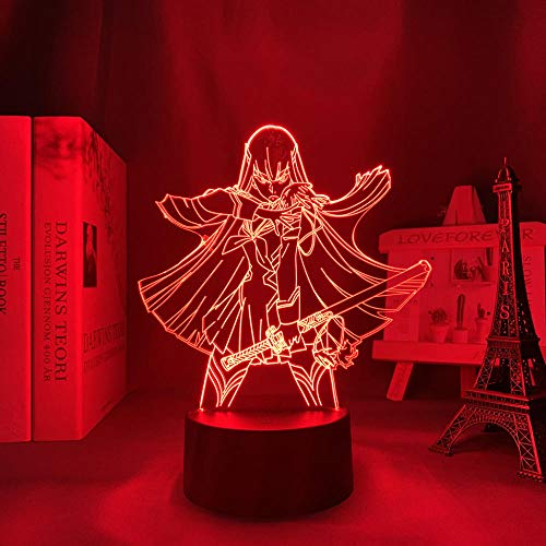 3D Anime Luz nocturna nocturna para matar la mata Kiryuuuin Satsuki Anime LED para dormitorio decoración Nightlight Kids regalo de luz nocturna 3D lámpara Kill La Trolle MBFT