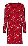 Ringella Damen Nachthemd Christmas rot 48 9511090, rot, 48